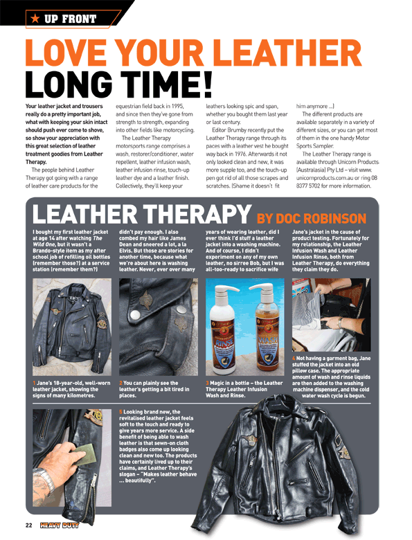 Love Your Leather Long Time, Leather Therapy by Doc Robinson