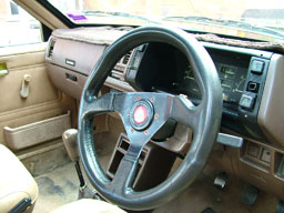 steering wheel after Leather Therapy treatment